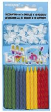 Happy Birthday' Cake Topper With Cake Candles